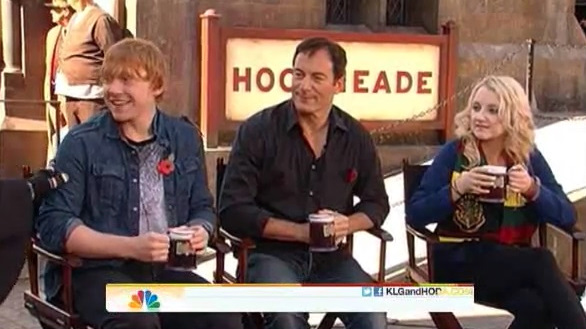 Rupert, Evanna Lynch and Jason Isaacs on Today Show
