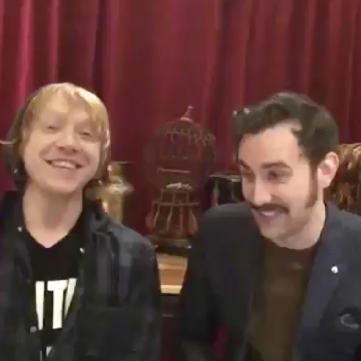 Rupert Grint & Matthew Lewis Periscope Interview