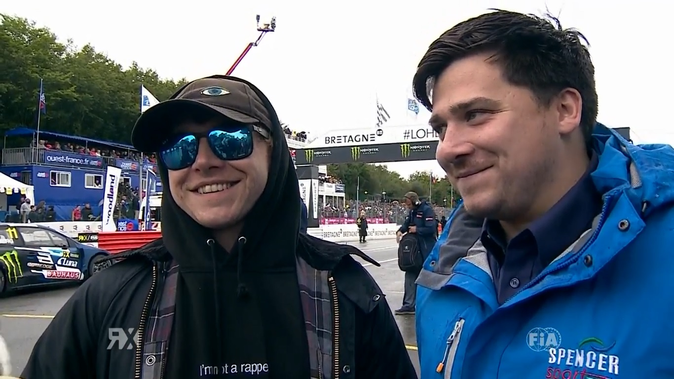 Rupert & James Grint at the FIA Rallycross Championship in Loheac