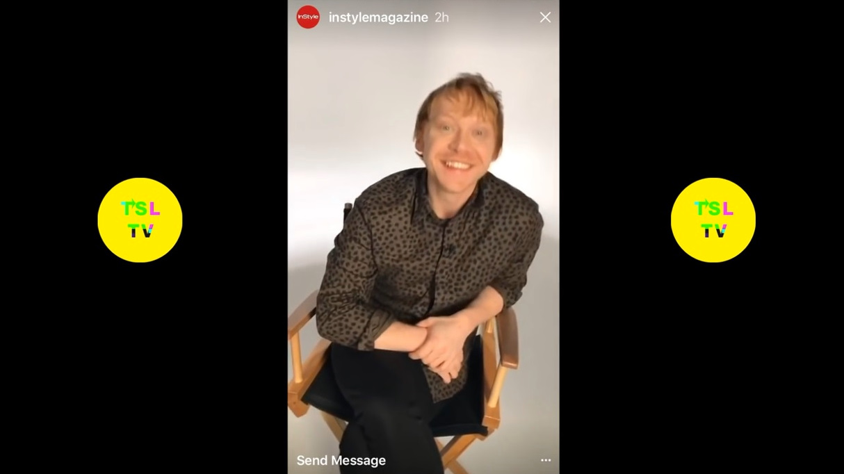 Instyle Insta Story with Rupert Grint