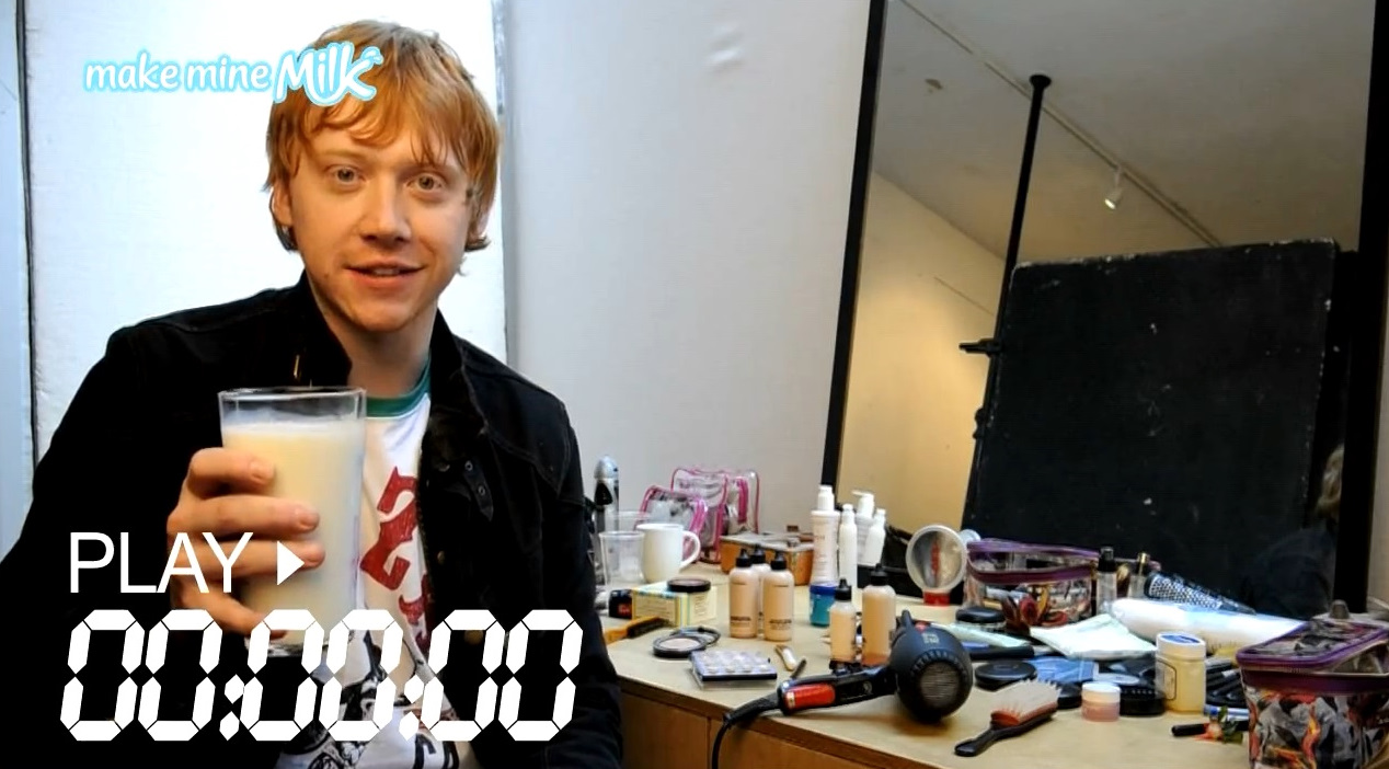 Rupert Grint takes the 'Make Mine Milk' challenge!
