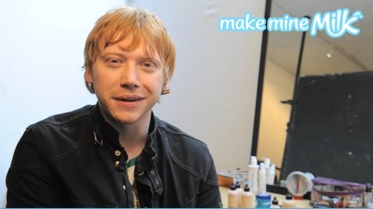 Rupert Grint tells 'Make Mine Milk' what his favourite milkshake flavour is!