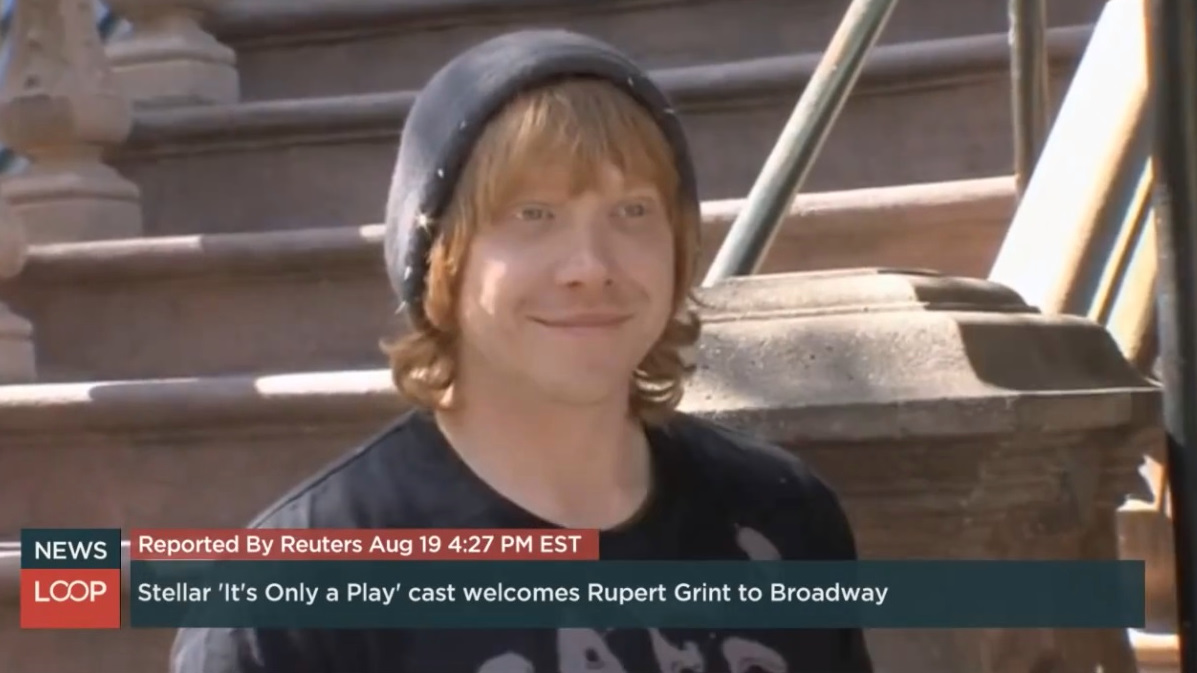 Stellar It's Only A Play Cast welcomes Rupert Grint to Broadway