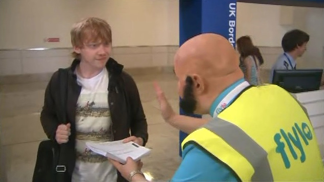 Rupert Grint in Come Fly With Me