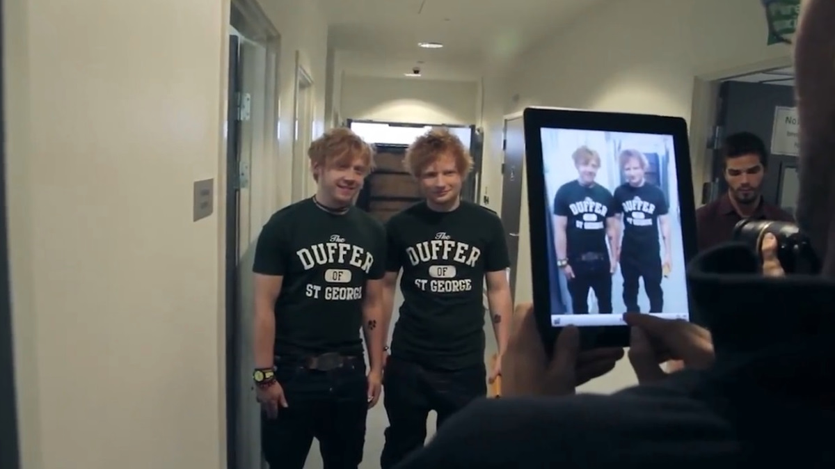 Ed Sheeran and Rupert Grint