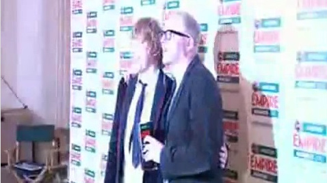 Empire Awards 2010 Posing with Simon Pegg