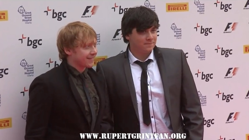 Rupert and James Grint at Annual F1 Party